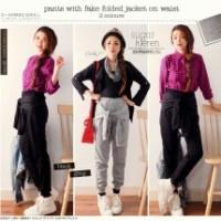 Lutanza Fake Folded Pants / Bawahan / Celana