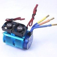 HEAT SINK WITH TWO TORNADO FANS SETS FOR 1:8 MOTORS WITH AROUND 40.8MM