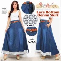 Rok Jeans Denim Lace kode 5766