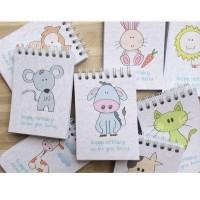 Mini Animal Coloring Books 24pcs - Buku Souvernir Ultah [READY STOCK]