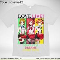 KAOS ANIME MANGA LOVE LIVE HANAYO MAKI RIN MAKE OUR DREAMS COME TRUE