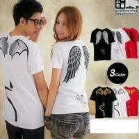 baju Couple sayap angel (merah, hitam,putih)