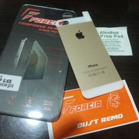 Tempered Glass FORCIA for Iphone 5/5s BackSide Gold/Silver/Black