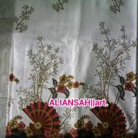 harga kain batik FASHION kipas bambu merah Tokopedia.com