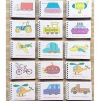 Mini Transportation Coloring Books 24pcs - Buku Souvernir READY STOCK