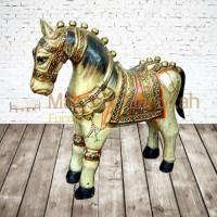 Dekorasi Patung Kuda Kayu 1 Meter