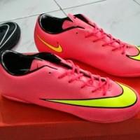 Sepatu Futsal Nike Vapor X Mercurial Pink & Yellow | GRADE ORI MADE IN ITALY