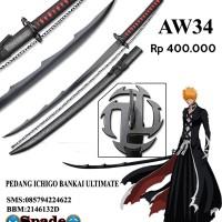 pedang anime bleach ichigo bankai ultimate,katana jepang (spade)