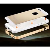 Ultra Thin Aluminium Metal Bumper Case Single Color with back cover