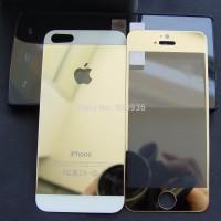 Iphone 5 / 5s Premium Colour Tempered glass Depan + Belakang