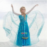 Jual dress kostum elsa frozen etnik 01 bagus grosir welcome reseller Murah