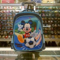 Tas Sekolah Anak Trolley TK SD Bongkar Pasang Hard Cover Mickey Mouse