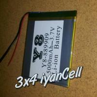 Baterai/Battery Tablet 6,6cm X 8,7cm (2 Kabel) 5000mAh