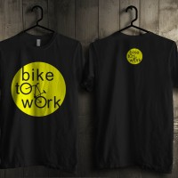 harga KAOS BIKE TO WORK SEPEDA BIKERS ADVENTURE FIXIE GO GREEN Tokopedia.com