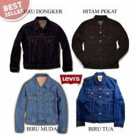 Jual jaket jas denim levis jeans murah, model keren elegant, lengan panjang Murah