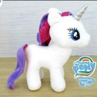 Boneka My Little Pony Rarity white Kado Anak Lucu Imut Kuda Cool putih