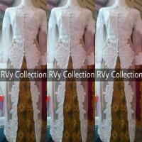 Set Kebaya Abaya Akad Nikah Muslim RVy Collection