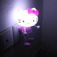 LAMPU TIDUR LED PHOTORECEPTOR NIGHTLIGHT HELLO KITTY