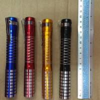 senter batu cincin 507 / akik 553 / model pulpen baterai AA 2 pcs