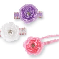 Mud Pie Jeweled Flower Soft Headband