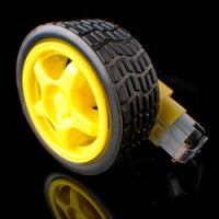 harga DC Gear Motor + Ban/ Micro DC Geared Motor with Rubber Wheel Tokopedia.com