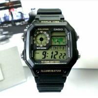 Jam Tangan Pria Hitam Digital Sporty Original Casio Garansi 1th