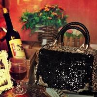 harga tas hitam leopard macan blink tangan hand bag hobo kosmetik medium pu Tokopedia.com