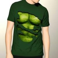 harga Kaos 3d Hulk Sixpack Hijau Tokopedia.com