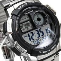 jam tangan pria original digital sporty casio garansi 1 th