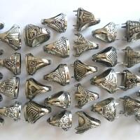 Ikat Cincin Ring Emban Cangkang Batu Akik Germanium Grosir Size 17-18