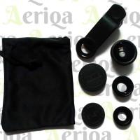 Jual Universal Lens 3in1 Clip Panjang / Lensa Fisheye - Wide - Macro Murah