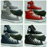 sepatu converse allstar  tinggi (high)abu,merah,biru,hitam+dus