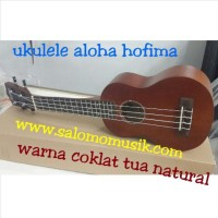 ukulele soprano warna coklat tua natural FREE SOFTCASE