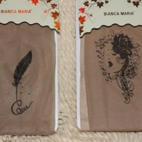 Stocking kulit tatto motif bulu dan wanita