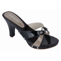 Sandal Selop Kelom Kayu High Heels Coklat Catenzo - CYT 046
