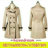 Blazer Coat wanita korea, jaket GLAMORY CREAM kece trendy