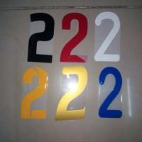 harga Digital Printing Nomor Celana / Nomor Dada Hot Press Tinggi 10,5cm Tokopedia.com
