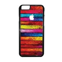 05 Apple Logo Iphone 6 Hard Case,casing,motif,unik,murah,kayu,rainbow