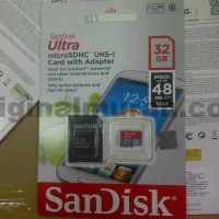 SanDisk Ultra microSDHC Card UHS-I Class 10 (48MB/s) 32GB with adapter