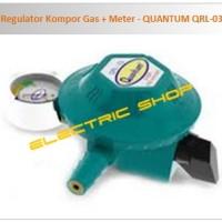 Regulator Kompor Gas + Meter - QUANTUM QRL-03