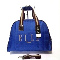 TAS TRAVEL / TRAVELBAG / TRAVEL BAG ELLE BIRU MEDIUM (TALI PANJANG)