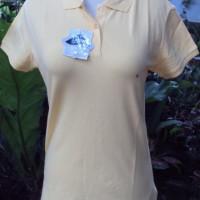 Original Giordano WWS Long & Slim Polo Shirt For Women [Light Yellow]