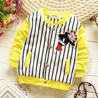 Jaket anak P stripe garis kuning