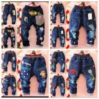 Celana panjang jeans anak motif babymilo bintang f