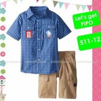 baju setelan anak laki Pipo Peter Paul 51112 kemej