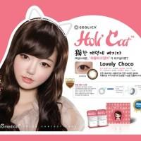 SEPASANG Softlens Geo Medical HoliCat Lovely Choco Korea BISA MINUS