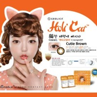 SEPASANG Softlens Geo Medical HoliCat Cutie Brown Korea BISA MINUS