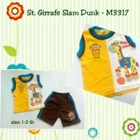 Baju Anak Murah / Pakaian Bayi St. Girrafe Slam Dunk - M3317 Kuning