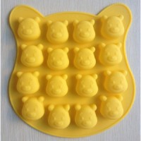 Cetakan coklat es batu puding jelly winnie the Pooh mold bear dapur