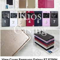 Samsung Galaxy E7 E700h - Flip Cover View Case Casing Sarung